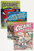 Modern Age (1980-Present):Alternative/Underground, Cocaine Comix #1-3 Group (Last Gasp, 1975-80) Condition: AverageFN/VF.... (Total: 3 Comic Books)