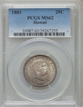 Coins of Hawaii: , 1883 25C Hawaii Quarter MS62 PCGS. PCGS Population (198/908). NGC Census: (146/692). Mintage: 500,000. ...
