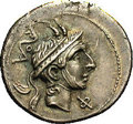 Ancients:Roman, Ancients: L. Philippus. 113-112 B.C. AR denarius (20 mm, 3.85 g).Head of Philip V right, wearing Macedonian helmet / Equestrianstatu...