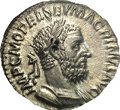 Ancients:Roman, Ancients: Macrinus. A.D. 217-218. AR denarius (19 mm, 2.78 g).Rome. Laureate and cuirassed bust right / Jupiter standing left,holdin...