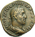 Ancients:Roman, Ancients: Philip I. A.D. 244-249. AE sestertius (27 mm, 17.24 g).Rome, ca. A.D. 245-247. Laureate, draped and cuirassed bust right /...