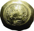 Ancients:Byzantine, Ancients: Michael VII. 1071-1078. EL histamenon nomisma (30 mm,4.38 g). Constantinople. Nimbate facing bust of Christ; two pelletsfl...