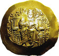Ancients:Byzantine, Ancients: John II. 1118-1143. AV hyperpyron (28 mm, 4.51 g).Thessalonica. Christ enthroned facing / The Virgin standing left,crownin...