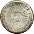 Argentina: , Argentina: Rio de la Plata. Real 1813J-PTS, KM2, MS64 NGC, a superbcoin with full mint bloom and subtle gold toning in the legends.Cl...
