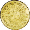 Argentina: , Argentina: Rio de la Plata. Gold 2 Escudos 1826RA, KM19.2,Friedberg 5, fully lustrous UNC details with a small flaw on thereverse to ...