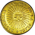 Argentina: , Argentina: Rio de la Plata. Gold 8 Escudos 1833 RA-P, KM21,moderately abraded XF with evidence of a possible removed mount onthe edge...
