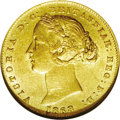 Australia: , Australia: Victoria gold Sovereign 1868, KM4, AU58 NGC, a niceoriginal coin with light toning....