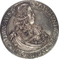 Austria: , Austria: Archduke Sigismund Franz Box Taler 1665 Hall, asKM1239.1,as D3370, lovely toned AU. This delightful piece has onthe inside...