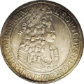 Austria: , Austria: Leopold the Hogmouth Taler 1696/5 Hall, KM1303.4, D3245,AU55 PCGS with light even silvery and gold toning....