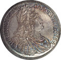 Austria: , Austria: Charles VI Taler 1729 Hall, KM693, D-1054, Choice UNC with beautiful silvery light to medium toning with gold highlights on ...