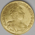 Netherlands:Austria-Netherlands, Netherlands: Austrian Netherlands. Maria Therese gold 1/2 Souveraind' Or 1753/2 Antwerp, KM17, Fr-237 (listed now under Belgium), niceA...