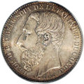 Belgian Congo: , Belgian Congo: Congo Free State. Leopold II 2 Francs 1887, KM7,MS65 PCGS. Well struck and lustrous with sea-green patina....