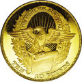 Biafra: , Biafra: Anniversary of Independence gold 10 Pounds 1969, KM10, A second Proof, also with contact marks....