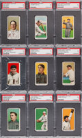 Baseball Cards:Lots, 1909-11 T206 White Borders PSA EX 5 Collection (9) with ScarcerBrands. ...