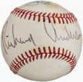Baseball Collectibles:Balls, Howard Cossell, Cary Grant and Richard Anderson Multi SignedBaseball....
