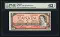 Canadian Currency: , BC-38cA $2 1954 Modified Portrait.. ...