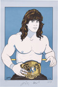 Miscellaneous Collectibles:General, 1990 Kerry Von Erich Signed Lithograph - Very Rare ...