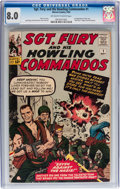 Silver Age (1956-1969):War, Sgt. Fury and His Howling Commandos #1 (Marvel, 1963) CGC VF 8.0 Off-white to white pages....