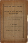 Books:Medicine, Joseph Holt, M.D. Pestilential Foreign Invasion, As a Question of States' Rights and the Constitution. The Failure of Ma...