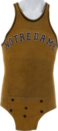 Basketball Collectibles:Uniforms, 1920's-30's Notre Dame Fighting Irish Basketball Jersey....
