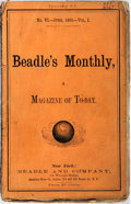 Books:Americana & American History, [Americana] Beadle's Monthly. A Magazine of Today, No. VI, Vol.I, June, 1866. New York: Beadle and Company, [18...