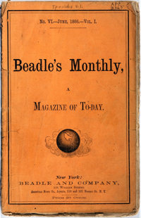 [Americana] Beadle's Monthly. A Magazine of Today, No. VI, Vol. I, June, 1866. New Y