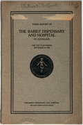 Books:Americana & American History, [Americana] Third Report of the Babies' Dispensary and Hospitalof Cleveland for the Year Ending September 30, 1909...