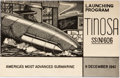 Books:Americana & American History, [Americana] Launching Program Tinosa SS(N)606 America's MostAdvanced Submarine, 9 December 1961. Program of eve...