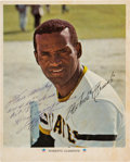 Autographs:Photos, 1972 Roberto Clemente Signed Photograph Dated to 3,000th Hit Game!...
