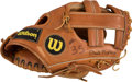 Baseball Collectibles:Others, 1980's Phil Niekro Game Used Glove. ...