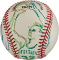 Baseball Collectibles:Balls, 1993 Larry Bird Retirement Original Baseball Artwork by LeRoyNeiman.. ...