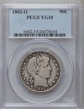 Barber Half Dollars: , 1892-O 50C VG10 PCGS. PCGS Population (19/348). NGC Census:(7/240). Mintage: 390,000. Numismedia Wsl. Price for problem fr...