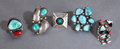 American Indian Art:Jewelry and Silverwork, FIVE SOUTHWEST SILVER AND TURQUOISE RINGS... (Total: 5 )