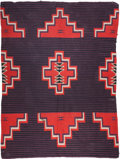 American Indian Art:Weavings, A NAVAJO GERMANTOWN MOKI WEAVING. c. 1890...