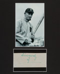 Autographs:Others, Circa 1950 Ty Cobb Signed Cut Signature....