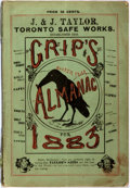 Books:Americana & American History, [Almanacs] Grip's Comic Almanac for 1883. Toronto: GripPrinting and Publishing Co., [1883]. Octavo. Illustrated...