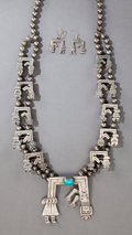 American Indian Art:Jewelry and Silverwork, A NAVAJO SILVER AND TURQUOISE JEWELRY SUITE... (Total: 3 Items)