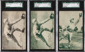 Baseball Cards:Lots, 1926-29 Exhibits Post Card Backs Wilson and Foxx Rookie Trio (3)....