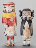 American Indian Art:Kachina Dolls, TWO HOPI COTTONWOOD KACHINA DOLLS. c. 1940... (Total: 2 )