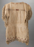 American Indian Art:Beadwork and Quillwork, A SOUTHERN CHEYENNE GIRL'S BEADED HIDE DRESS. c. 1910...
