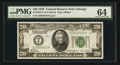 Fr. 2050-G $20 1928 Federal Reserve Note. PMG Choice Uncirculated 64