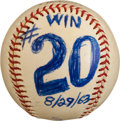 Baseball Collectibles:Balls, 1963 Sandy Koufax Twentieth Win of Season Game Used Baseball....