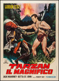"Movie Posters:Adventure, Tarzan the Magnificent (Capital International, R-1960s). Italian 2- Foglio (39"" X 55""). Adventure.. ..."
