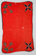 American Indian Art:Beadwork and Quillwork, A GREAT LAKES BEADED CLOTH SADDLE BLANKET...