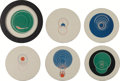 Prints:European Modern, MARCEL DUCHAMP (French, 1887-1968). Rotoreliefs (sixdouble-sided works), 1935/1953. Offset lithographs in colorprinted... (Total: 6 Items)