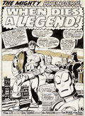 Original Comic Art:Splash Pages, John Buscema and Tom Palmer The Avengers #81 Splash Page 1Original Art (Marvel, 1970)....
