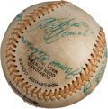 Autographs:Baseballs, 1969 Puerto Rican Winter League Baseball Signed by Roberto Clemente& Thurman Munson....