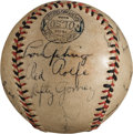 Autographs:Baseballs, 1939 New York Yankees Team Signed Baseball....
