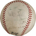 Baseball Collectibles:Balls, 1940's Baseball Greats Multi Signed Baseball With Mel Ott....