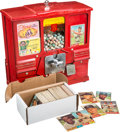 Baseball Cards:Sets, Vintage 1960's Card Vending Machine With Candy and almost 250Uncirculated Cards. ...